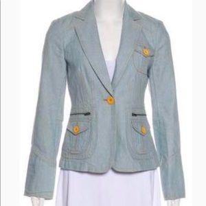 NEW Marc Jacobs 6 Light wash denim blazer jacket